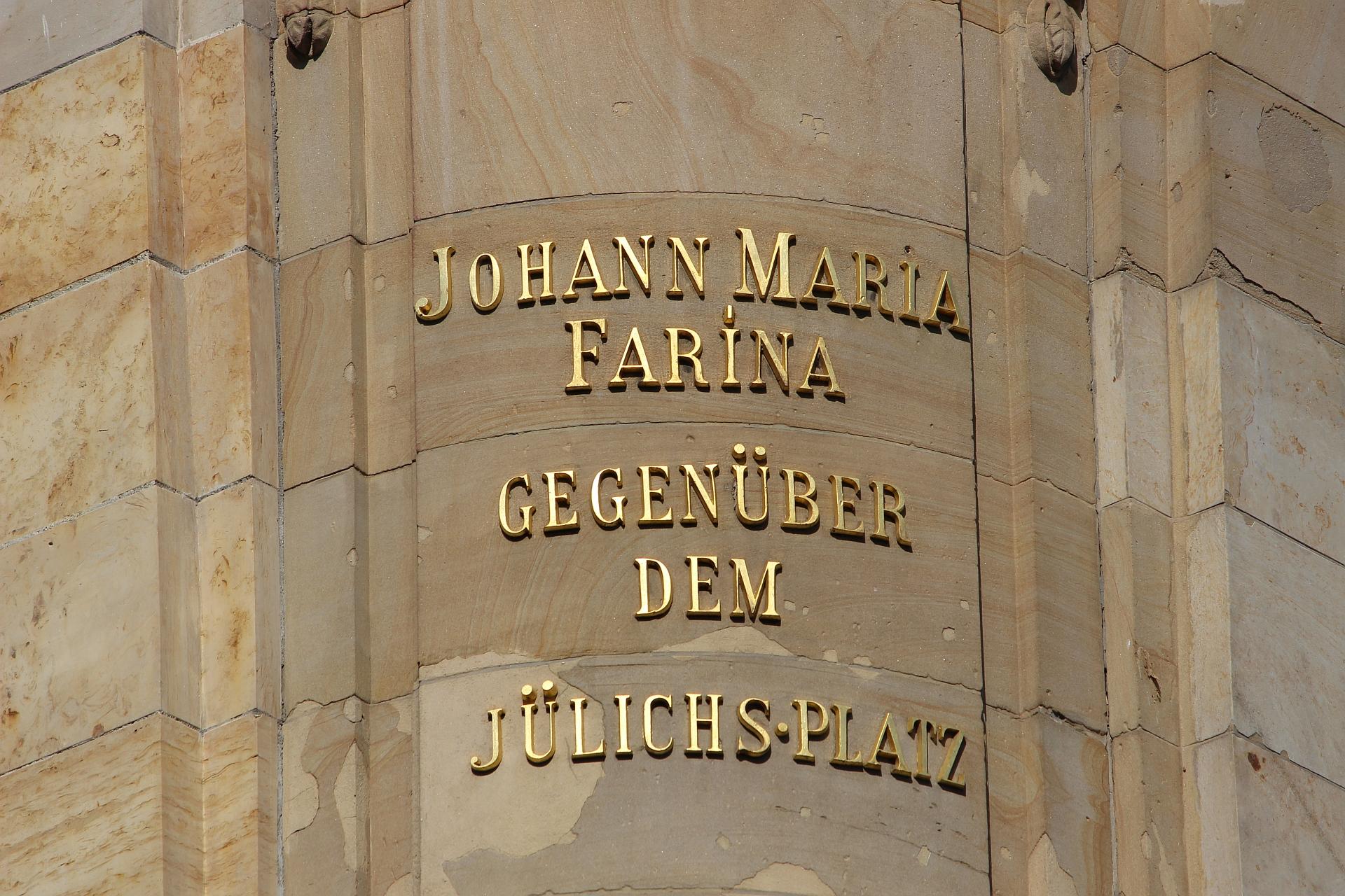 Johann Maria Farina gegenüber dem Jülichs-Platz