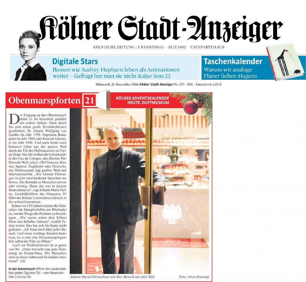 Kölner Stadt-Anzeiger Adventskalender